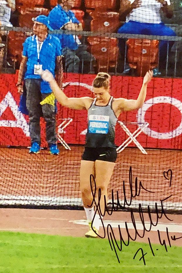 Autograph Sandra Perkovic Autogramm