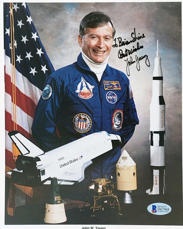 Autograph John W. Young Autogramm