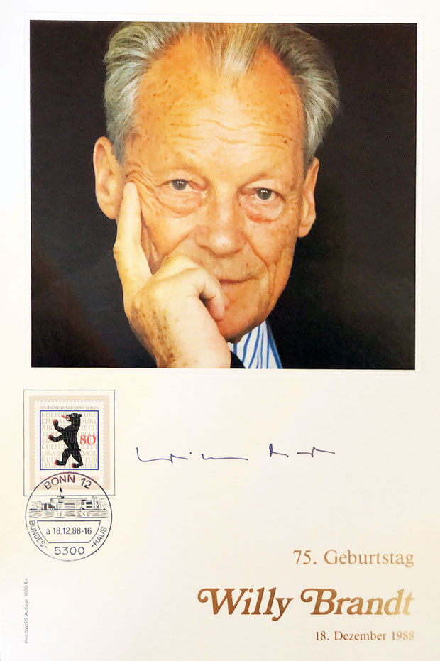 Autograph Willy Brandt Autogramm