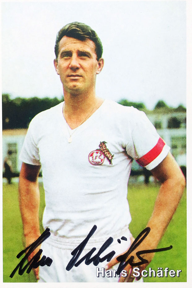 Autograph Hans Schäfer Autogramm