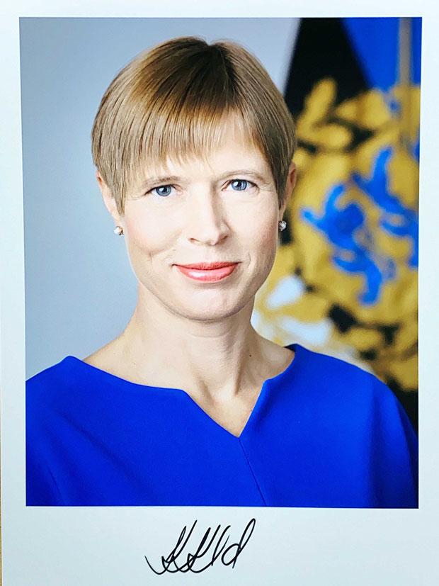 Autograph Kersti Kaljulaid Autogramm