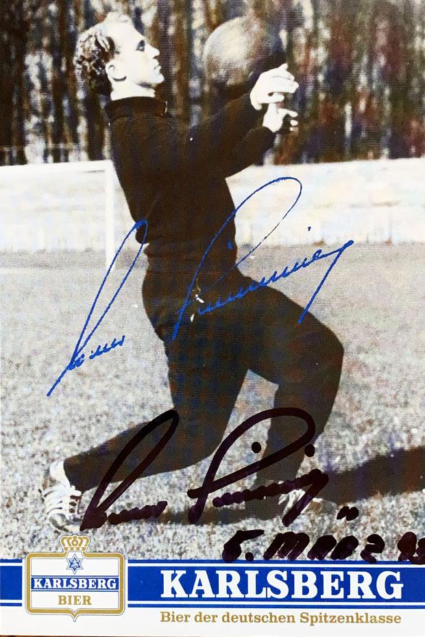 Autogramm Werner Liebrich Autograph