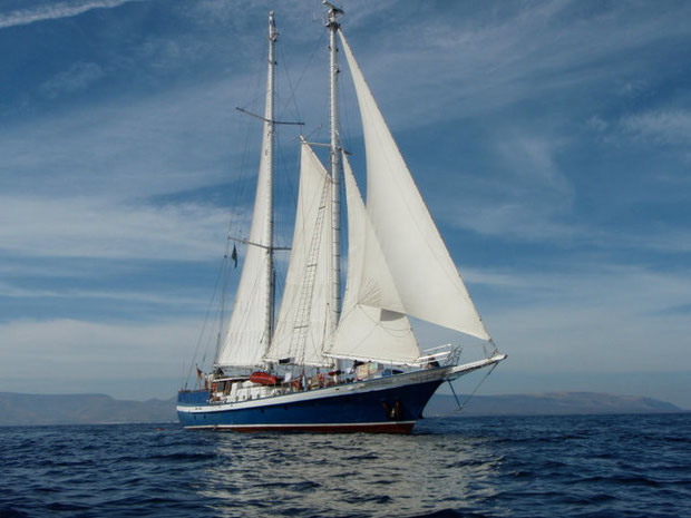 """avec le voilier """"Johann Smidt"""" aux Caraibes, (c) www.hshs.eu"""