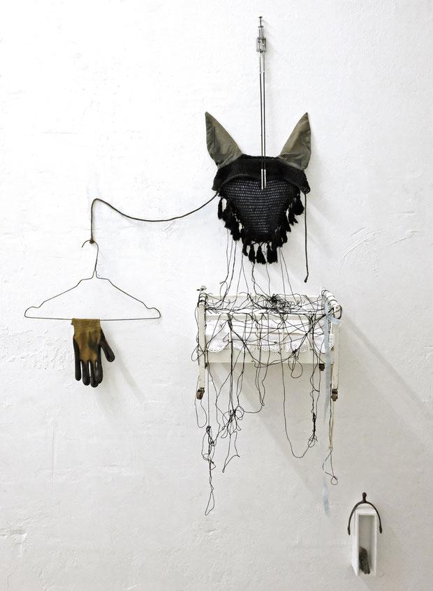 Donkey Blind, Installation, Kunstmuseum Ahlen 2018, Foto: Dietmar Paetzold