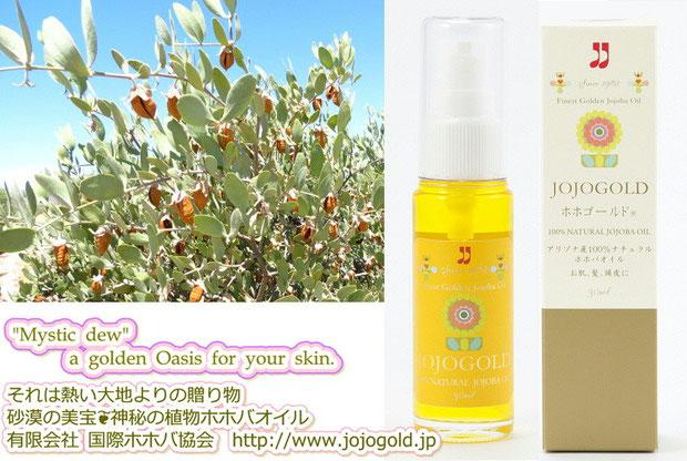 "♔ ""Mystic dew"" - a golden Oasis for your skin. それは熱い大地よりの贈り物 アリゾナ砂漠の美宝 神秘の植物100%ナチュラル原種のゴールデンホホバオイル『ホホゴールド』"