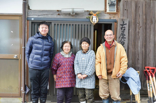 古屋の皆さんと蔡さん。日本での思い出の一枚となりました。