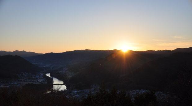 寺山山頂からの初日の出 2013