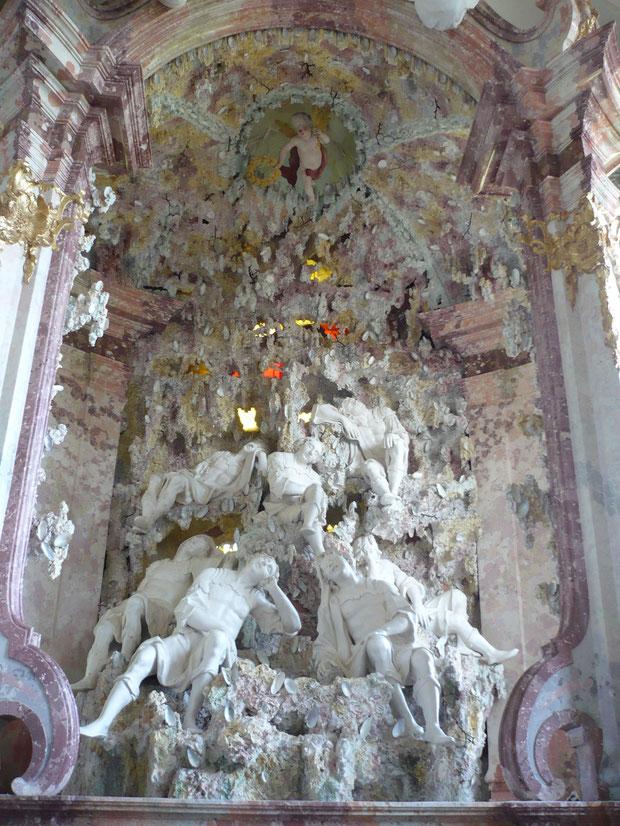 Rokoko Prachtaltar des Johann Baptist Modler, Siebenschläferkirche in Rotthof
