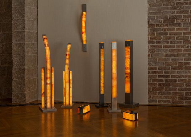 Salzstein-Leuchten Sortiment von Julian & Lasaroff