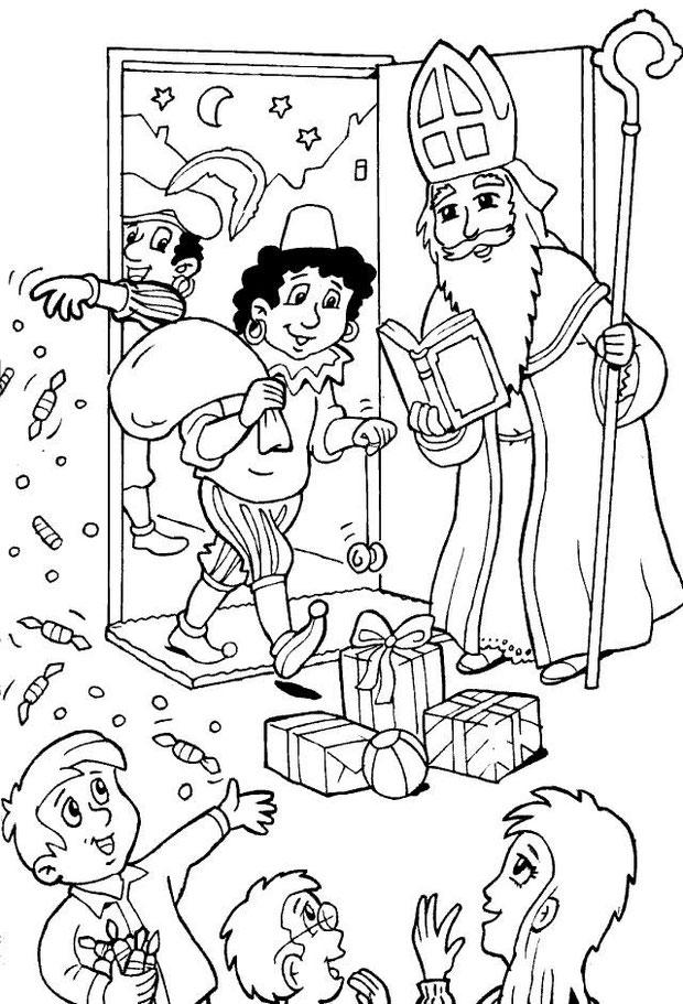 Sint en Piet thuis