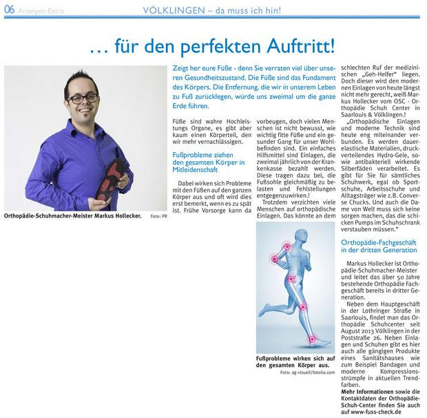 Saarbrücker Zeitung März 2014