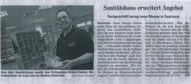 Saarbrücker Zeitung März 2011