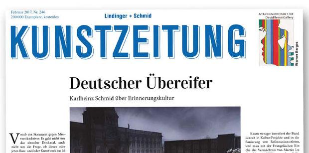 Kunstzeitung Lindinger + Schmid Deutscher Übereifer