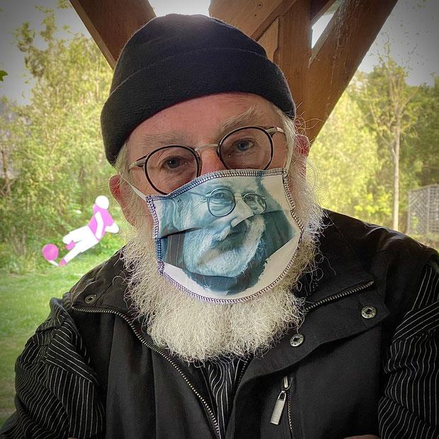 Prof. i.R. Dr. Herbert Slad maskiert