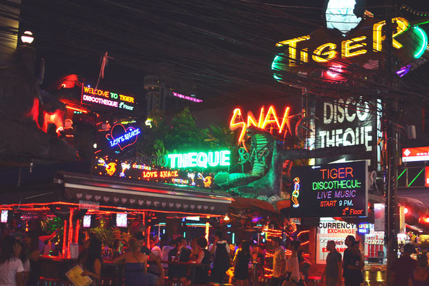 Bangla Road in Phuket | Travel Guide To Phuket: Things To Do, Places To Stay | Phuket offers natural beauty, rich culture, white beaches, wild nightlife and plenty of adventure activities | via @Just1WayTicket | Photo © Nicolas Lannuzel | CC BY-SA 2.0