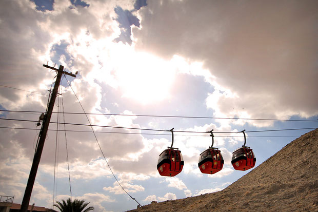 Cable cars to the Mount of Temptation in Jericho... © Sabrina Iovino | JustOneWayTicket.com