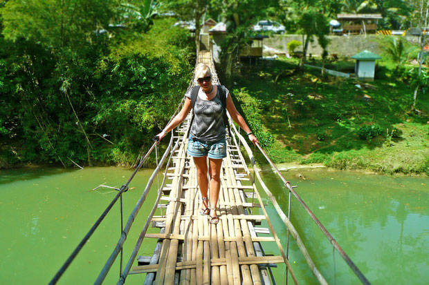 The Hanging Bridge, another attraction of Bohol. Philippines 2013 © Sabrina Iovino | JustOneWayTicket.com