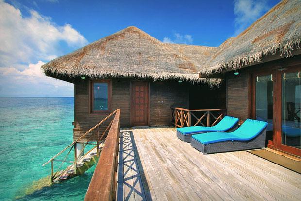 Water Villa with sun deck at Bandos Island - That one time I got invited to the Maldives © Sabrina Iovino | via @Just1WayTicket