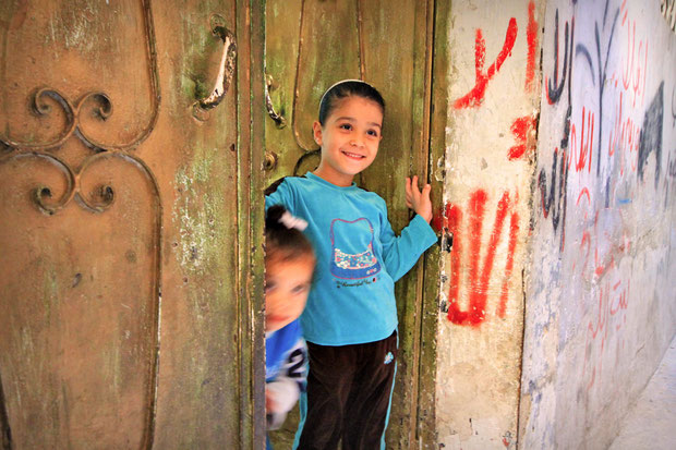 In the afternoon we visited the Balata Camp, a Palestinian refugee camp in the northern West Bank. © Sabrina Iovino | JustOneWayTicket.com