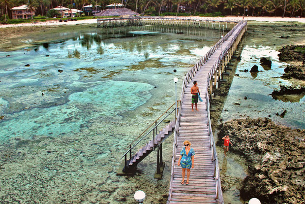 Cloud 9 - The famous board walk in Siargao, Philippines © Sabrina Iovino | via @Just1WayTicket