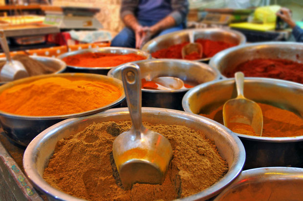 Exotic spices at the Mahane Yehuda Market in Jerusalem, Israel © Sabrina Iovino   JustOneWayTicket.com