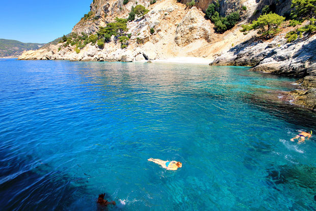 Yes, that's me! Getting lost near the Blue Cave... Ölüdeniz, Turkey 2013 © Sabrina Iovino | JustOneWayTicket.com