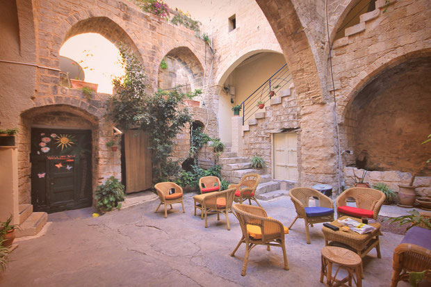 Quiet oasis inside the Old City. Hotel Review: Fauzi Azar Inn - A 200 year old Arab Mansion in Nazareth, Israel © Sabrina Iovino | JustOneWayTicket.com