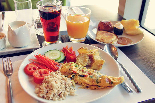 Generous breakfast buffet at The Linden Suites, Manila, Philippines © Sabrina Iovino   JustOneWayTicket.com