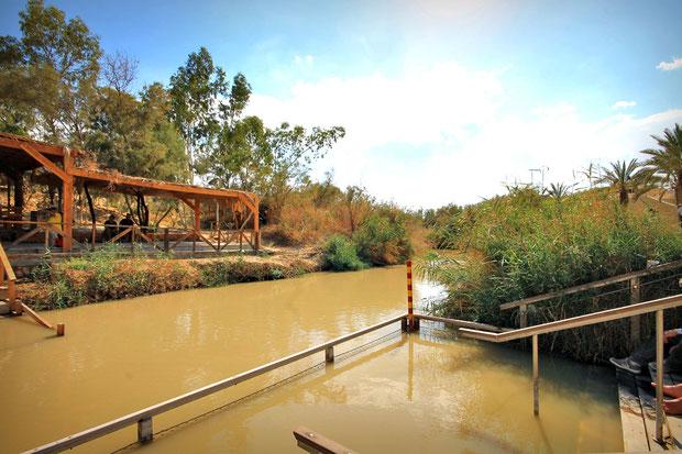 Qasr el Yahud, the ancient baptism site of Jesus on the banks of the Jordan River. © Sabrina Iovino | JustOneWayTicket.com