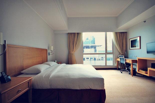 My spacious room at The Linden Suites, Manila, Philippines © Sabrina Iovino   JustOneWayTicket.com