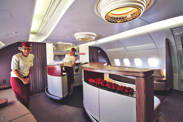 Review: Qatar Airways Business Class A380 Doha to Atlanta Inaugural Flight | via @Just1WayTicket