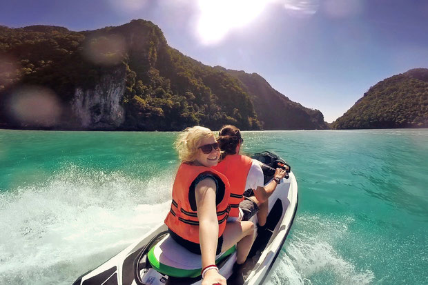 Jetski Island Hopping in Langkawi | One of 10 Fun Things and Activities to do in Langkawi, Malaysia © Sabrina Iovino | via @Just1WayTicket