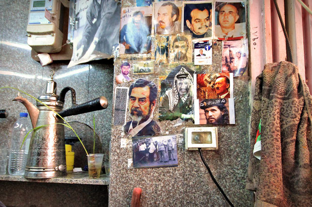 Brief stop in a juice bar and I was slightly irritated when I saw the pictures on the wall: Saddam Hussein, Osama Bin Laden, Arafat, and... wtf... Adolf H. ?! © JustOneWayTicket.com