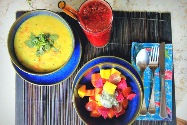 Ayurvedic Food | The Sukhavati Bali - How 10 Days in an Ayurvedic Wellness Yoga Retreat Reset my Body, Mind and Soul | A Holistic Experience you won't forget... | via @Just1WayTicket