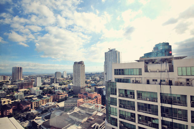 View from my room at The Linden Suites, Manila, Philippines © Sabrina Iovino | JustOneWayTicket.com
