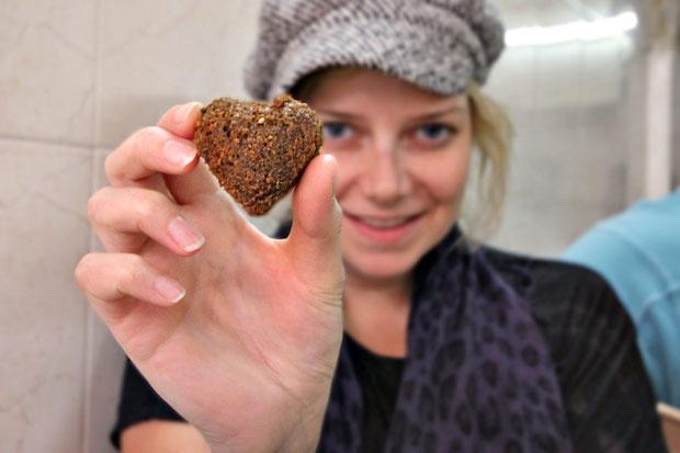 Well done! A Heart-shaped Falafel <3 © Sabrina Iovino | JustOneWayTicket.com