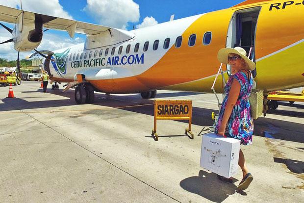 Traveling with Cebu Pacific Air to Siargao, Philippines © Sabrina Iovino | JustOneWayTicket.com