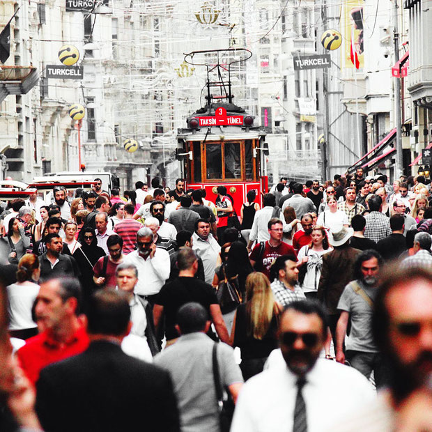 Istiklal Street in Taksim, Istanbul | 20 Photos That Will Make You Want To Visit Turkey! | via @Just1WayTicket