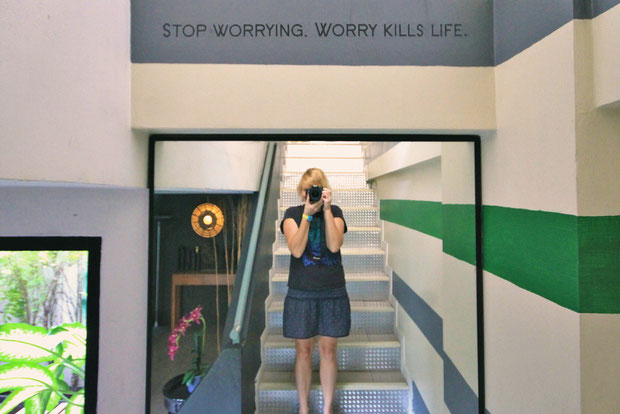 Stopp worrying. Worry kills life. Sathorn Escape Terrace in Bangkok, Thailand © Sabrina Iovino | JustOneWayTicket.com