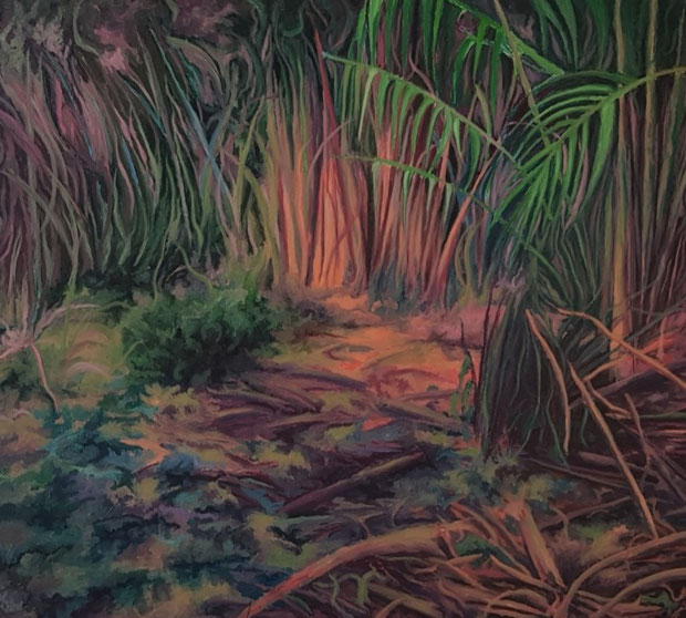 Landschaft, 2021, Acryl auf Leinwand, 200x 180 cm