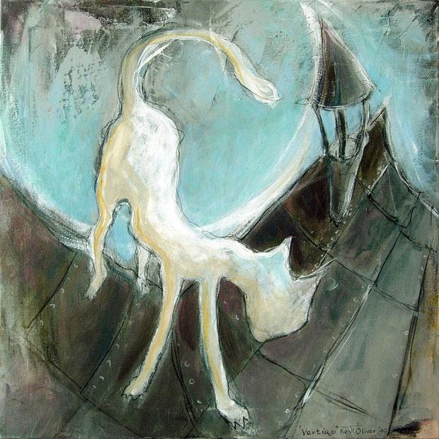 Vertigo, 50x50 cm, Acryl auf Leinwand