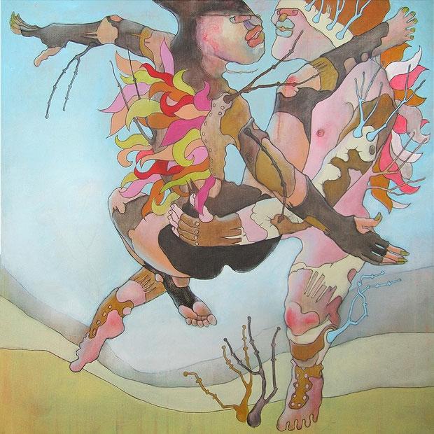 o.T. , 80x80 cm, Acryl auf Leinwand