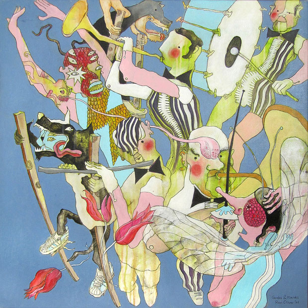 Geeks & Freaks, 80x80 cm, Acryl auf Leinwand
