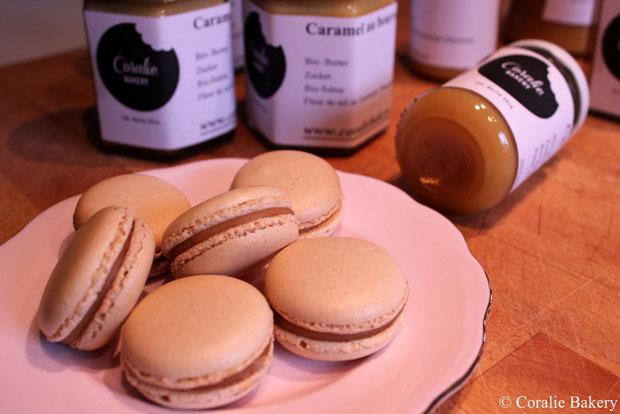 Macarons und Caramel au beurre salé - Salzigem Karamell und Macarons