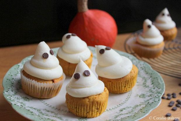 Halloween Kürbiscupcake mit Creamcheesefrosting