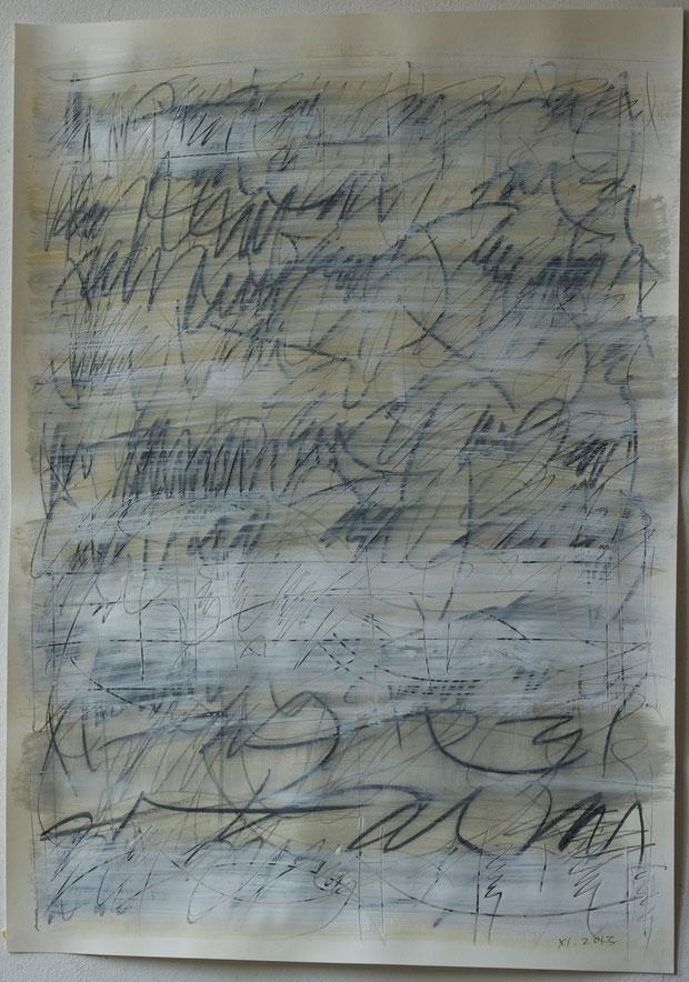 november  2013     mixed media on paper     50 x 70 cm