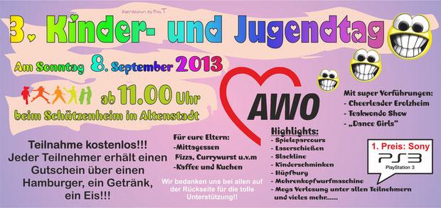 Flyer AWO Kinder und Jugendtag 2013