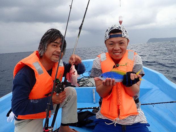 奥西表 船浮、網取、崎山で体験フィッシング グルクンが釣れる