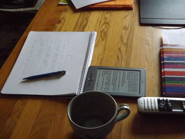 Schreiben am Küchentisch