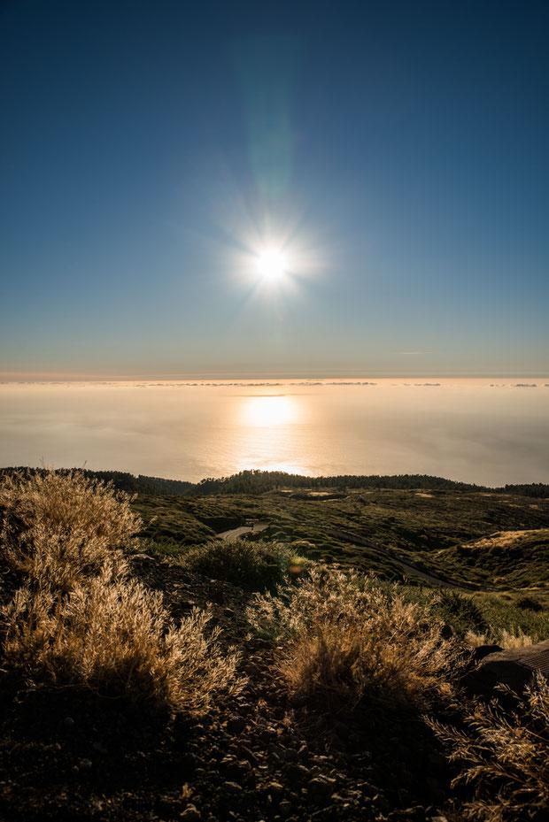Atardecer desde el Observatorio de La Palma